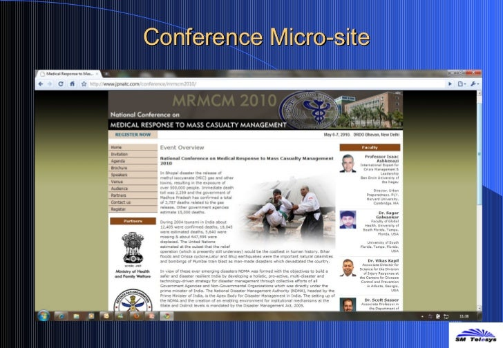 Conference Micro-site