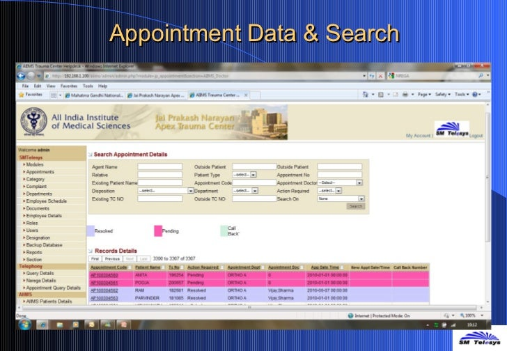 Appointment Data & Search
