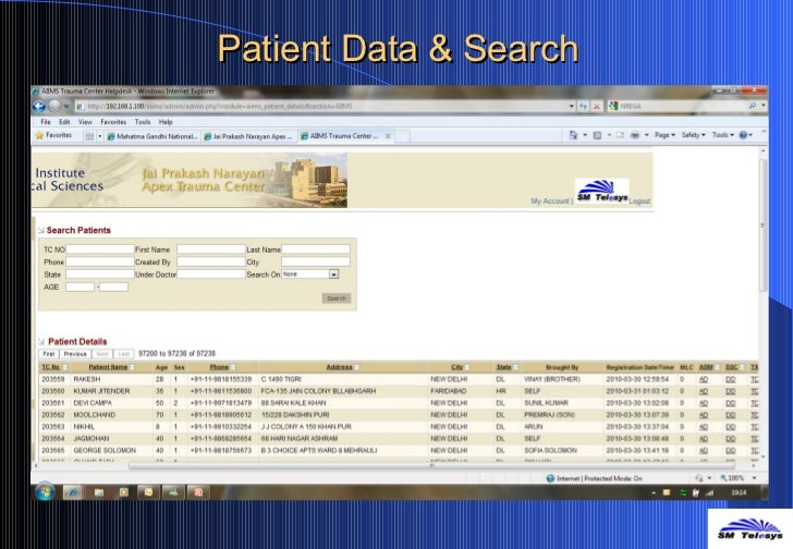 Patient Data & Search