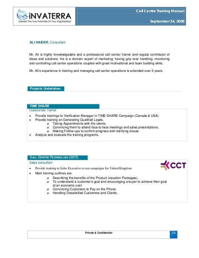 ... NEW YORK Accomplishments; 24. Call Centre Training Manual ...