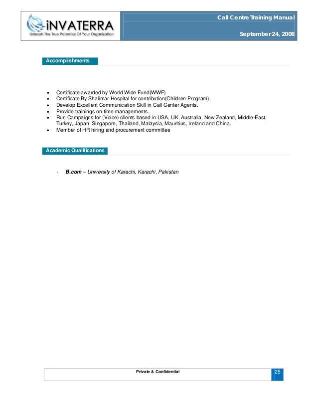call centre training manual rh slideshare net Call Center Empathy Statements Call Center Monitoring Form Scorecard
