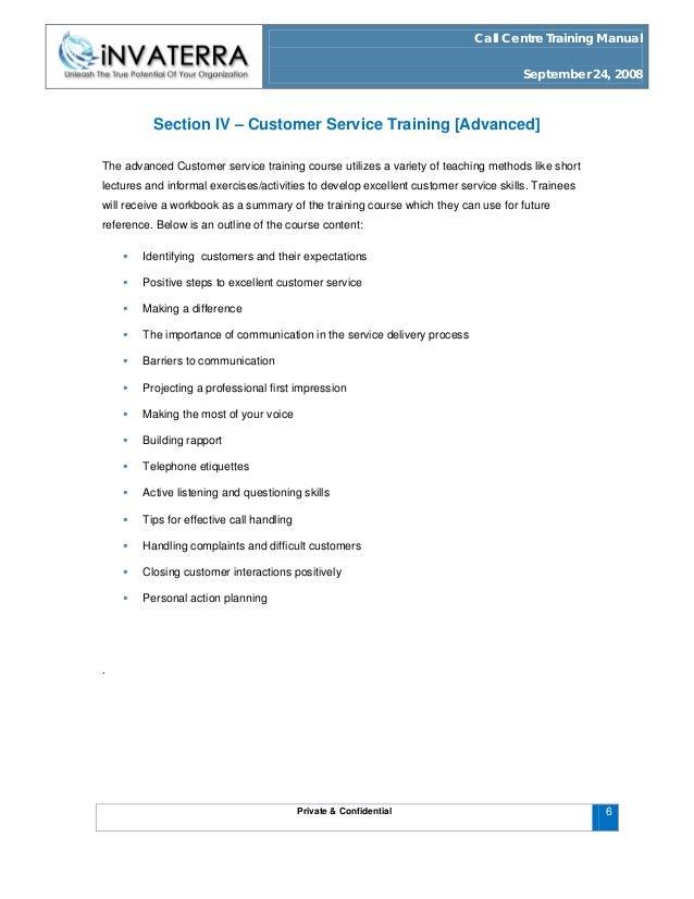 customer service training manuals - Khafre