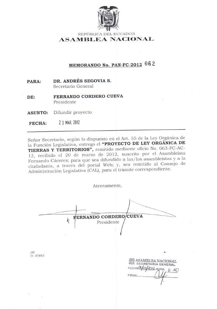REPÚBLICA DEL ECUADOR                          ASAMBLEA NACIONAI                                                          ...