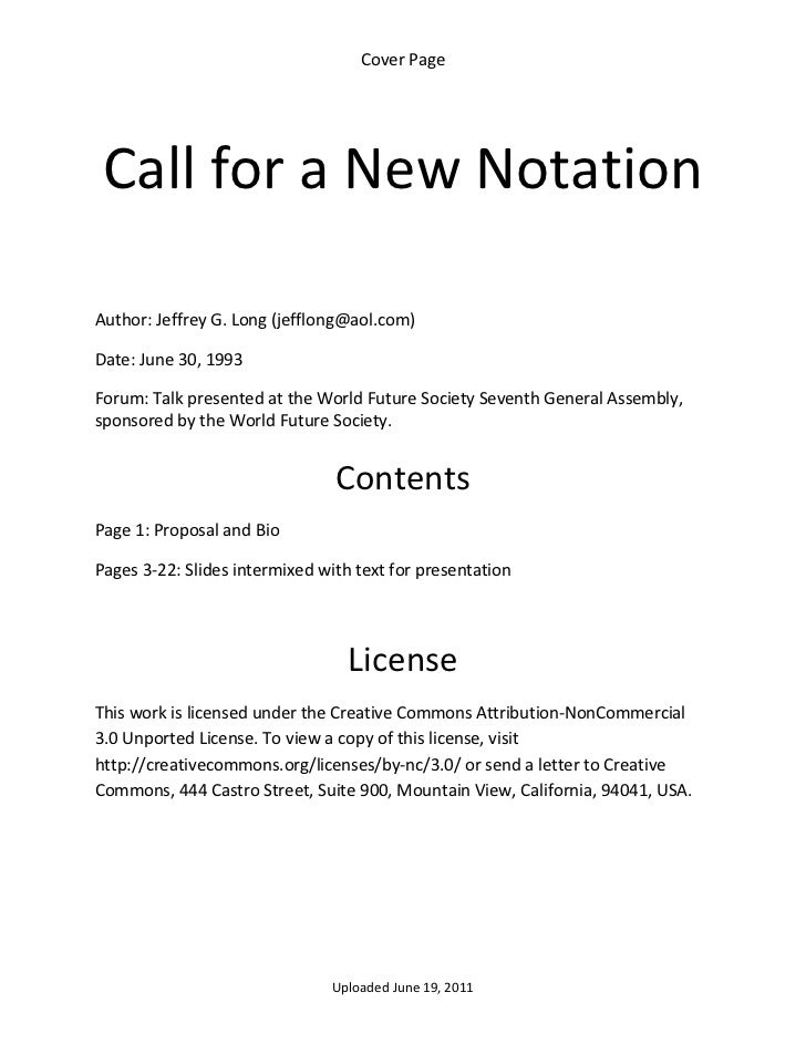 CoverPage    CallforaNewNotationAuthor:JeffreyG.Long(jefflong@aol.com)Date:June30,1993Forum:Talkprese...