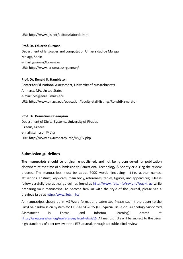 call for papers journal of educational technology  u0026 society