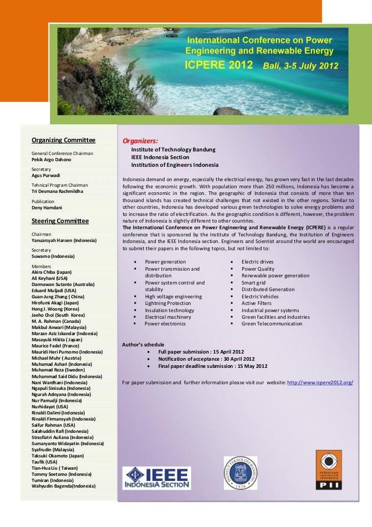 Organizing Committee               Organizers:                                      Institute of Technology BandungGeneral...