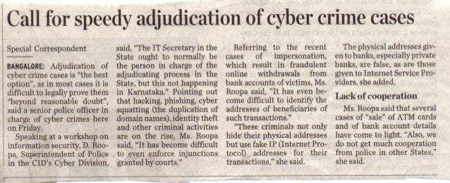 Call for speedy adjudication of cyber crime cases