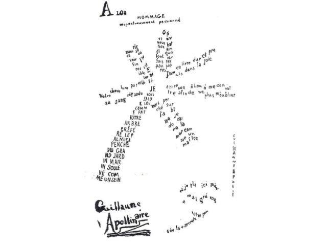 Calligrammes d'Apollinaire  Slide 3