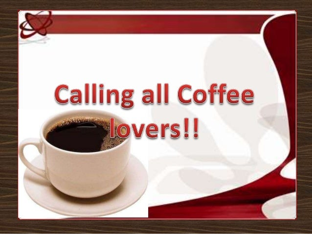 Calling all coffee lovers!!