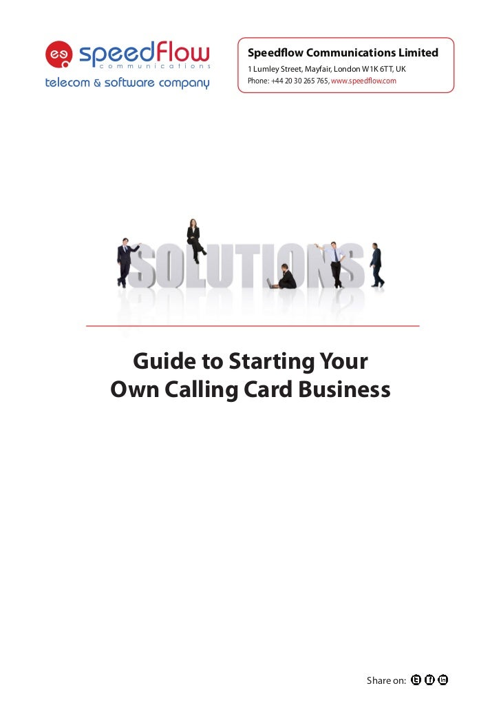 WhitePaper: How to Start VoIP Calling Card Business