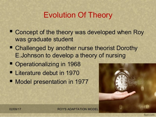 roy s adaptation model and the concept of stress Roy's personal health issues guided much of her research and nursing theory development.
