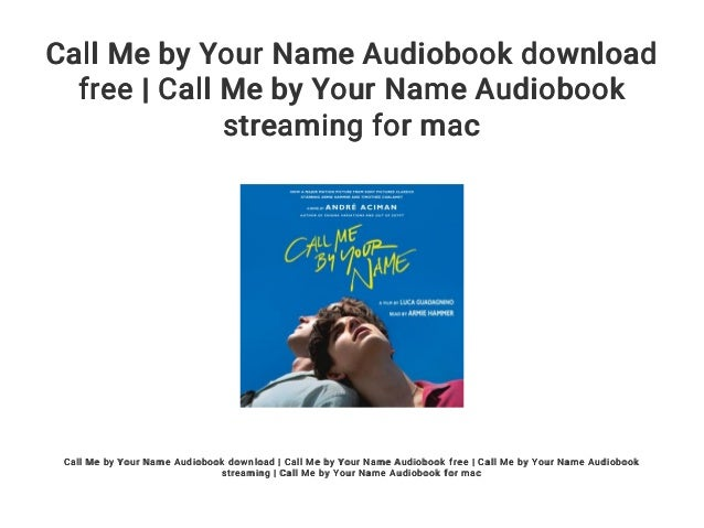 call me by your name audiobook free download