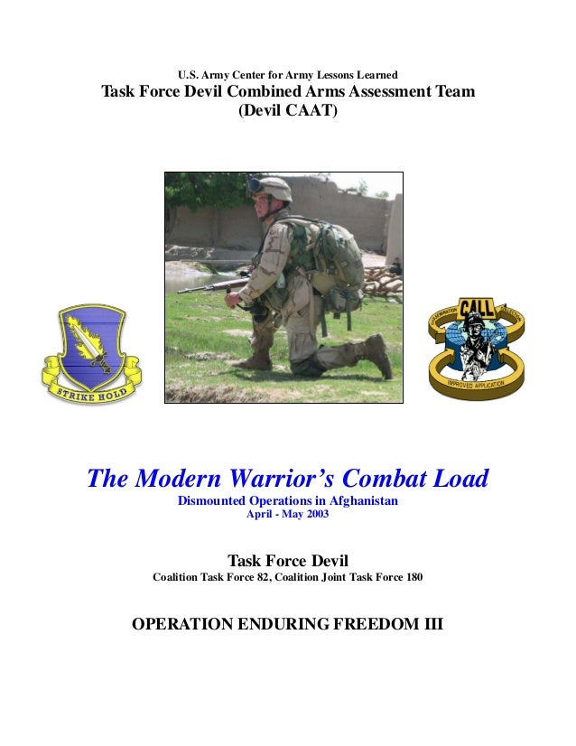 U.S. Army Center for Army Lessons Learned Task Force Devil Combined Arms Assessment Team (Devil CAAT) The Modern Warrior's...