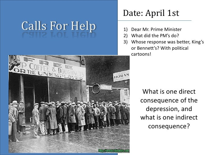 Calls For Help<br />Date: April 1st<br />Dear Mr. Prime Minister<br />What did the PM's do?<br />Whose response was better...