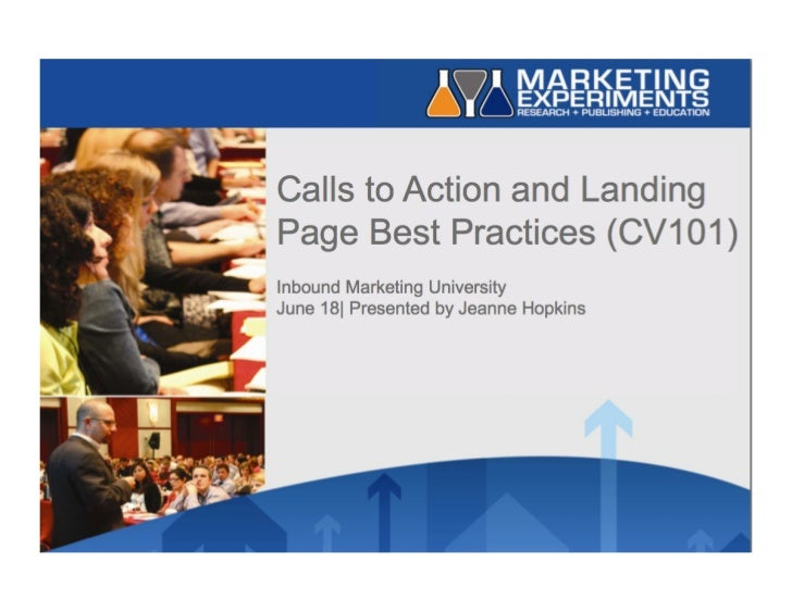 #7 IMU: Calls to Action and Landing Page Best Practices (CV101) Slide 2
