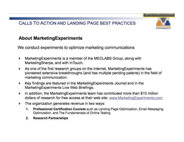 #7 IMU: Calls to Action and Landing Page Best Practices (CV101) Slide 3