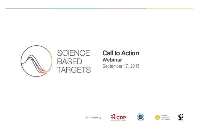 Science Based Targets Initiative Call To Action