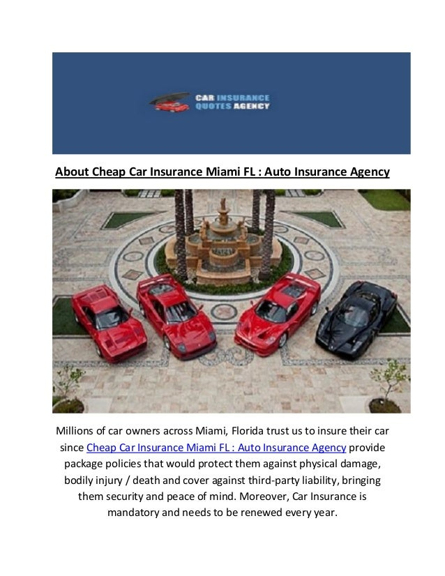 Miami Fl Cheap Car Insurance