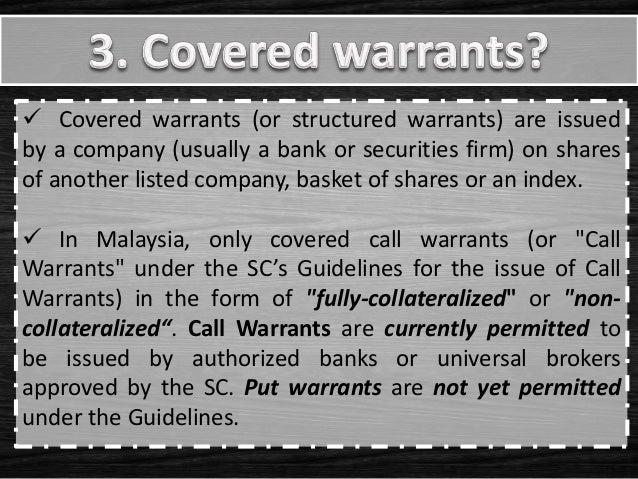 Call Warrants Calculator