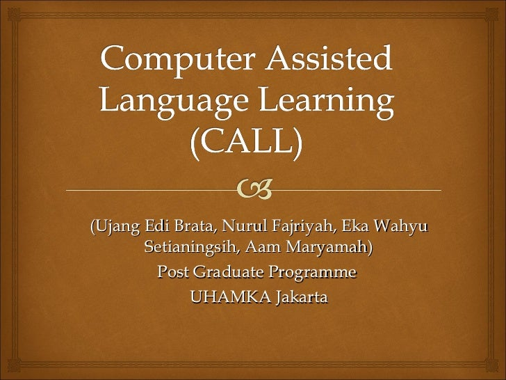 Phd thesis in computer assisted language learning