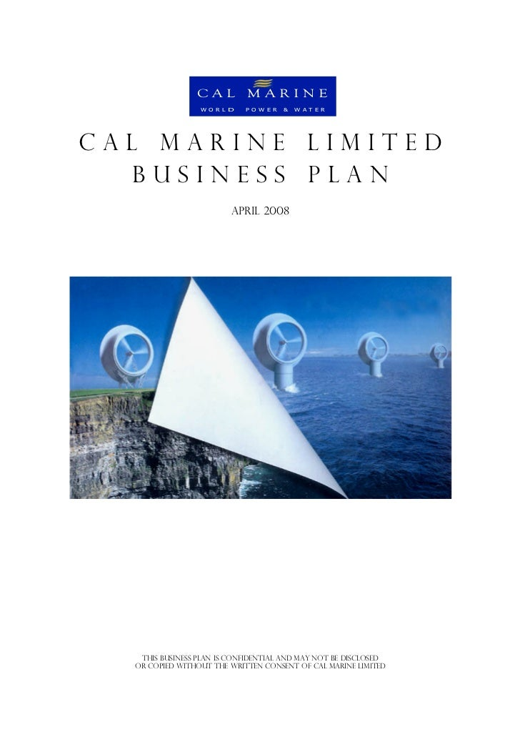 CAL MARINE                 W O R L D   P O W E R   &   W A T E RCAL MARINE LIMITED   BUSINESS PLAN                        ...