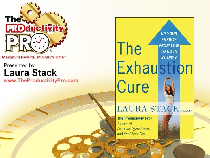 Presented by Laura Stack www.TheProductivityPro.com