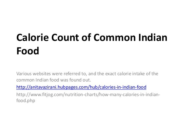 Calorie Count App For Indian Food