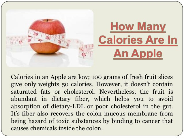 How Many Calories In An Apple