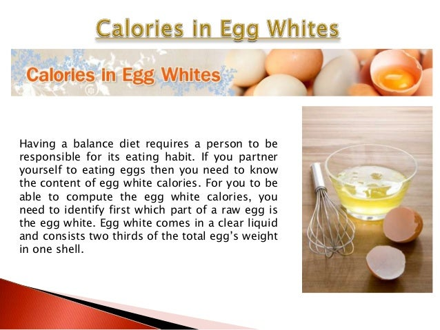How Many Calories Are In Egg Whites