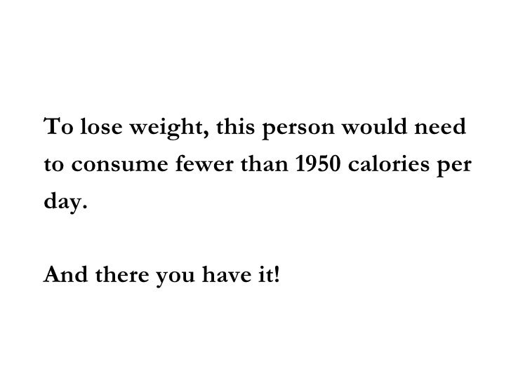 per day calories to lose weight