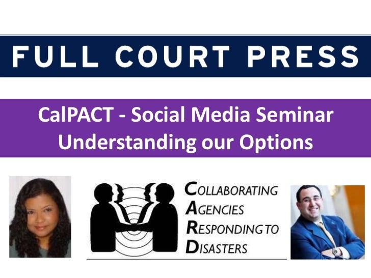 CalPACT - Social Media for Health Organizations