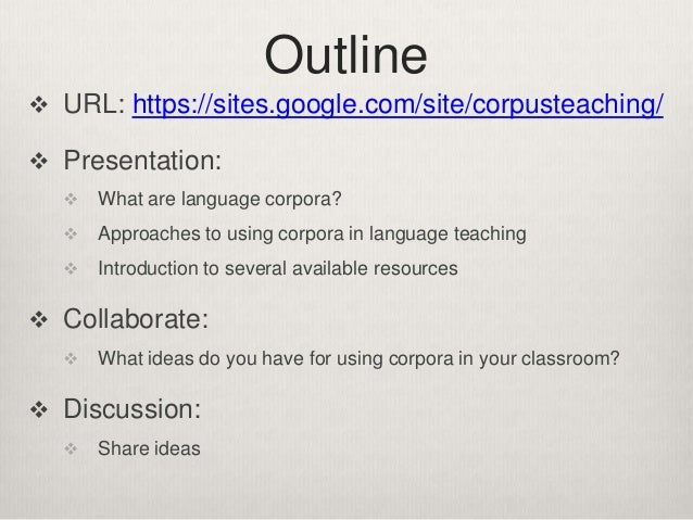 How to Use Corpora in Language Teaching Slide 2