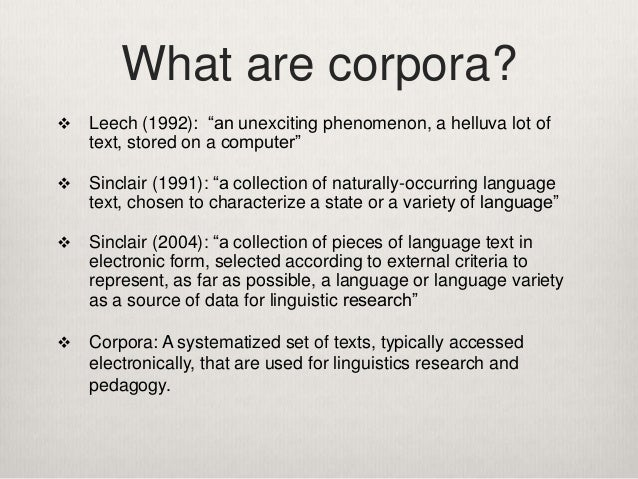 How to Use Corpora in Language Teaching Slide 3