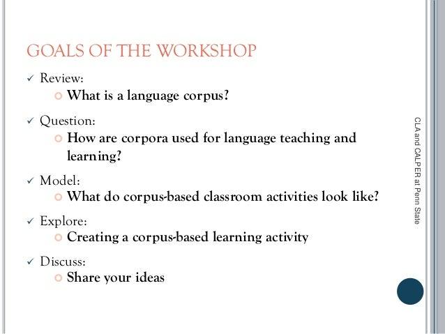Corpus Tools for Language Teaching Slide 2