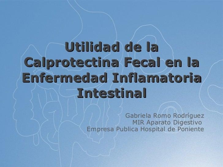 Utilidad de la Calprotectina Fecal en la Enfermedad Inflamatoria Intestinal Gabriela Romo Rodríguez MIR Aparato Digestivo ...