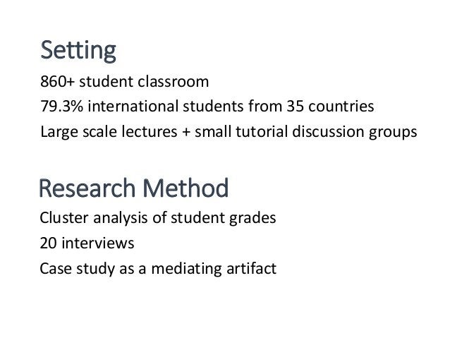 Classroom clustering Participants Cluster 1 5 students (25%) Cluster 2 8 students (40%) Cluster 3 7 students (35%) 20 part...