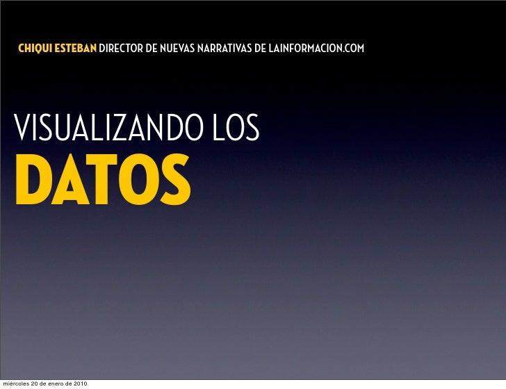 CHIQUI ESTEBAN DIRECTOR DE NUEVAS NARRATIVAS DE   INFORMACION.COM        VISUALIZANDO LOS    DATOS  miércoles 20 de enero ...