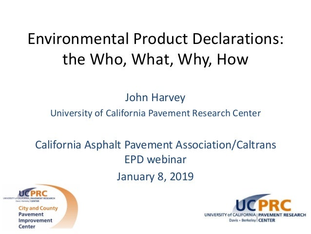 Environmental Product Declarations: the Who, What, Why, and How
