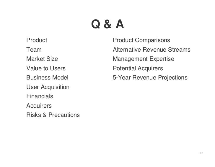 Q&A Product                Product Comparisons Team                   Alternative Revenue Streams Market Size            M...