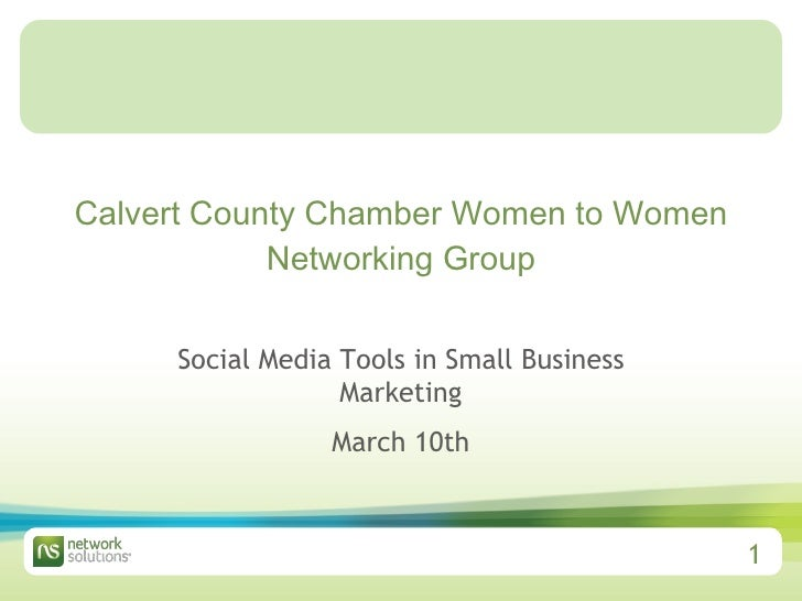 Calvert County Chamber Women to Women Networking Group Social Media Tools in Small Business Marketing March 10th
