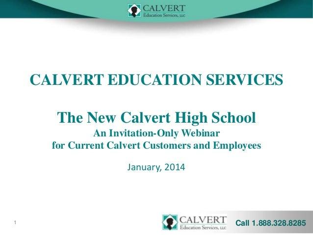 Calvert High School Webinar