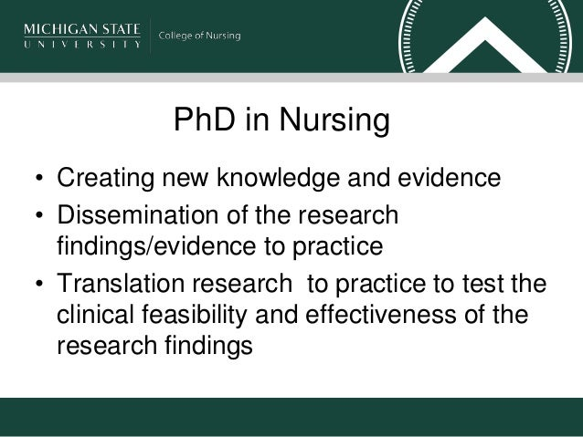 Nursing phd thesis