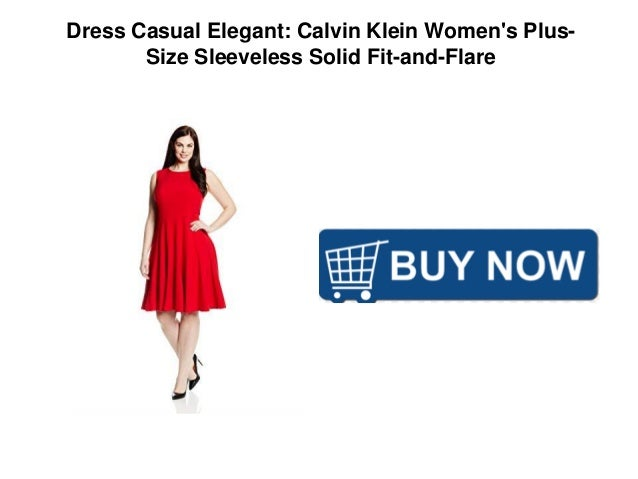98f88d24229f13 Dress Casual Elegant  Calvin Klein Women s Plus- Size Sleeveless Solid Fit -and-Flare. Recommended. Visual Thinking Strategies