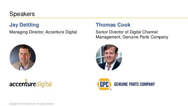 Accenture & Genuine Parts: Jay Dettling and Thomas Cook Slide 2