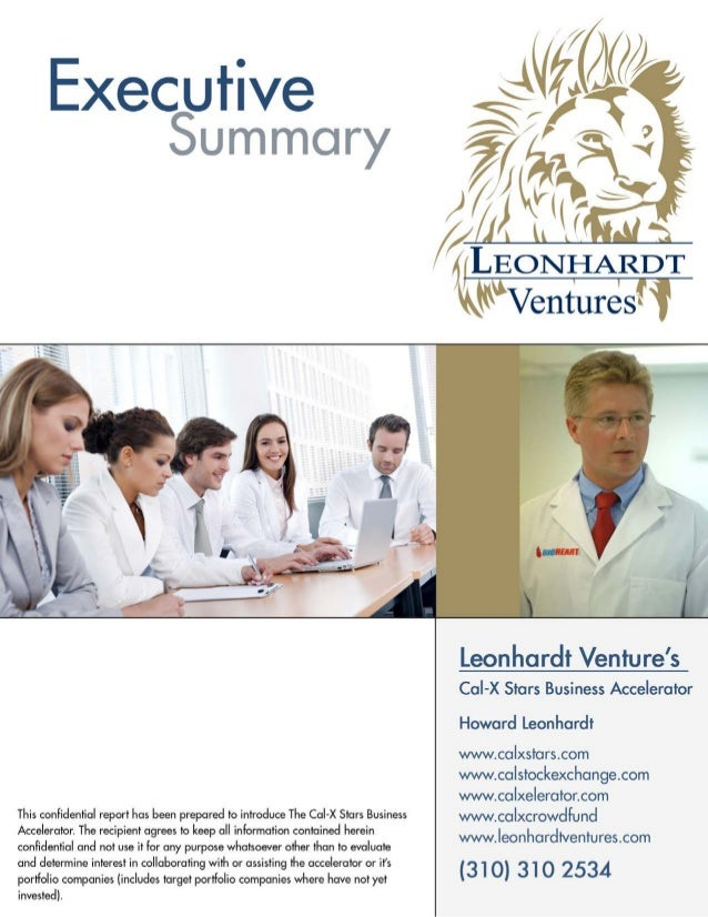 LEONHARDT VENTURES Leonhardt Venture's  Cal-X Stars Innovation and Business Accelerator Leonhardt Venture's Cal-X Stars In...