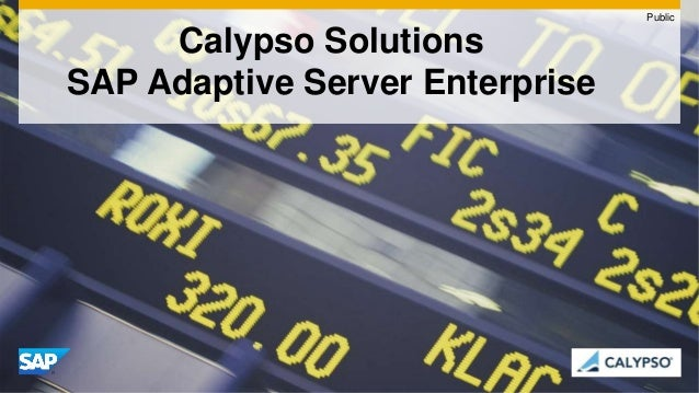 Calypso Solutions SAP Adaptive Server Enterprise Public