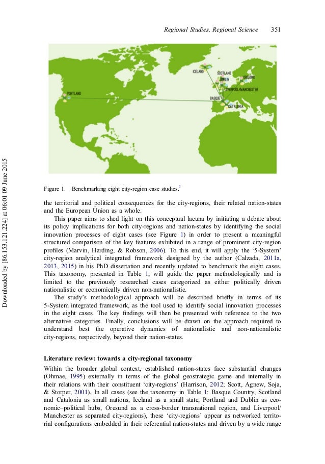 the territorial and political consequences for the city-regions, their related nation-states and the European Union as a w...