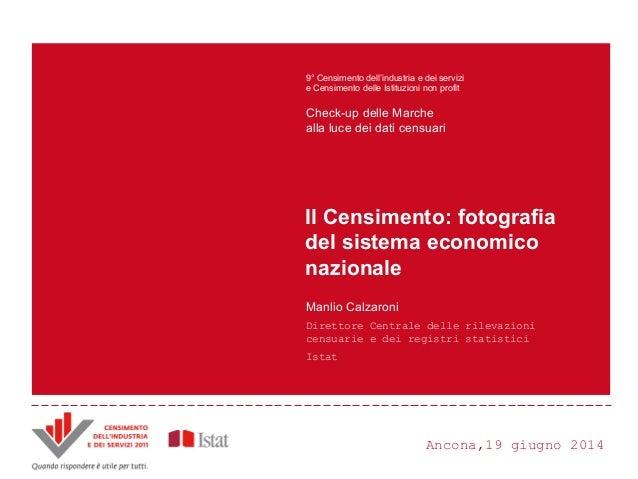 Ancona,19 giugno 2014 Principali innovazioni e risultati del Censimento Censimento dell'industria e dei servizi 2011 ANDRE...