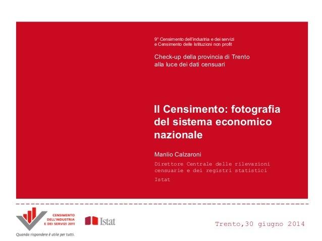 Trento,30 giugno 2014 Principali innovazioni e risultati del Censimento Censimento dell'industria e dei servizi 2011 ANDRE...