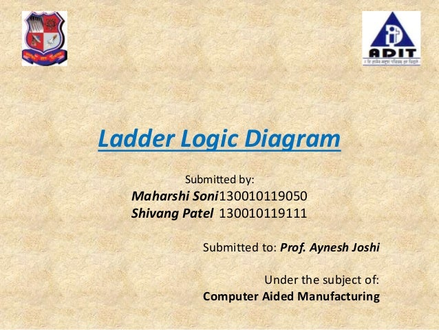 Cam ladder logic diagram ladder logic diagram submitted by maharshi soni130010119050 shivang patel 130010119111 submitted to prof ccuart Images